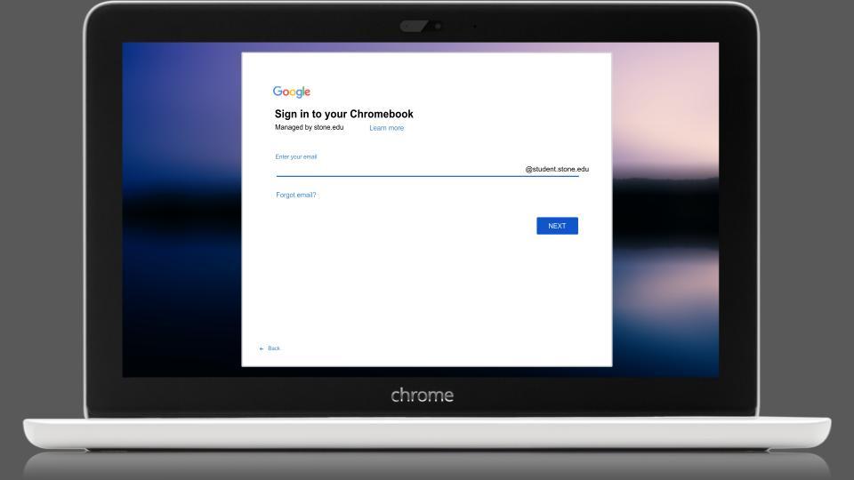 Screenshot of Sign In Screen for Chromebooks